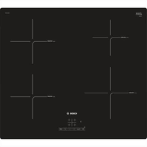 Bosch PIE611BB1E Induction Hob 60cm, powerBoost, Touch Control, 7400W, Black plīts virsma