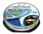 DVD-R ESPERANZA [ cakebox 10 | 4,7GB | 16x | printable ] matricas
