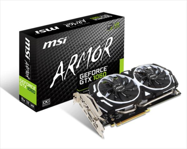 MSI GeForce GTX 1060 OC V1, 6GB GDDR5 (192 Bit), 2xHDMI, DVI, 2xDP video karte