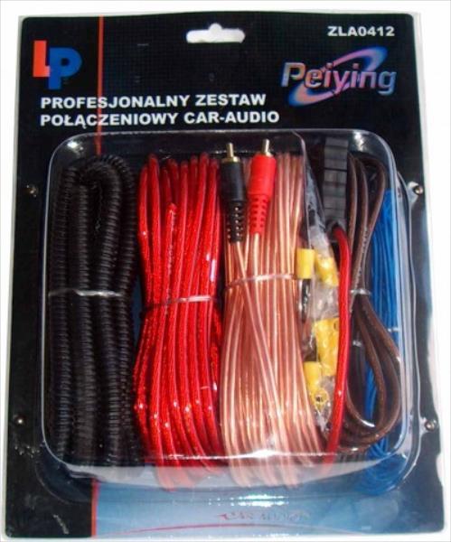 Peiying ZLA0412 16G Automašīnas audio instalācijas vadu komplekts auto audio aksesuārs