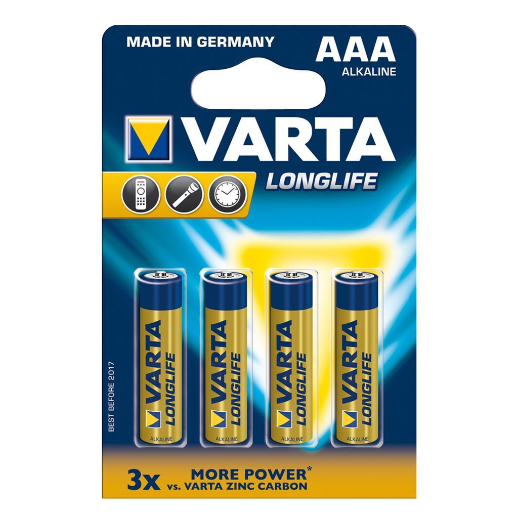 VARTA Alkaline batteries R3 (AAA) 4pcs longlife Baterija