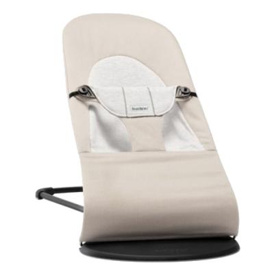 Bouncer Balance Soft Beige/Grey,Cotton/Jersey 005083A šūpuļkrēsls