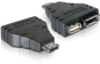 Delock adapter Power Over eSATA -> eSATA + USB 2.0 karte