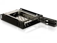 Delock 3.5'' Mobile Rack for 2x 2.5'' SATA HDD, black cietā diska korpuss