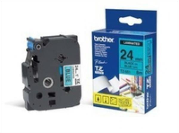 Tape Brother 24mm BLACK ON BLUE biroja tehnikas aksesuāri