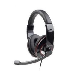 Gembird microphone & stereo headphones with volume control, black austiņas
