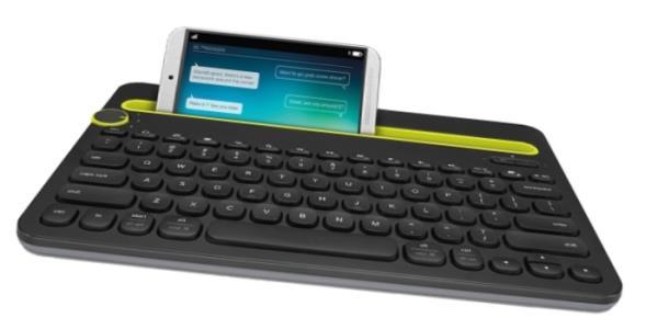 Logitech Bluetooth MultiDevice Keyboard K480, Black, RU klaviatūra