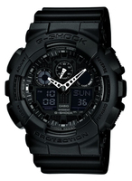 Casio Watch with G-Shock Resin Strap 51mm Men's GA-100-1A1ER Rokas pulksteņi