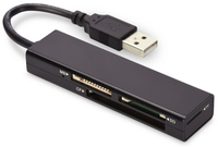 Ednet Card Reader 4-p. USB 2.0 (CF, SD, MicroSD, MS) karšu lasītājs