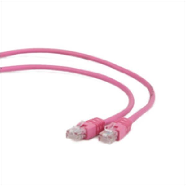 Gembird patchcord RJ45, cat.5e, UTP, 1m, pink tīkla kabelis