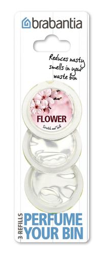 BRABANTIA atkritumu tvertnes smaržas kapsulas, 3 gb, Flower 482083 atkritumu tvertne