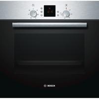 Bosch Serie | 2 HBN331E1J Medium, Stainless steel, Rotary, Height 59.5 cm, Width 59.5 cm, 3D Hot Air; Bottom heat; Conventional heat; Full w Cepeškrāsns