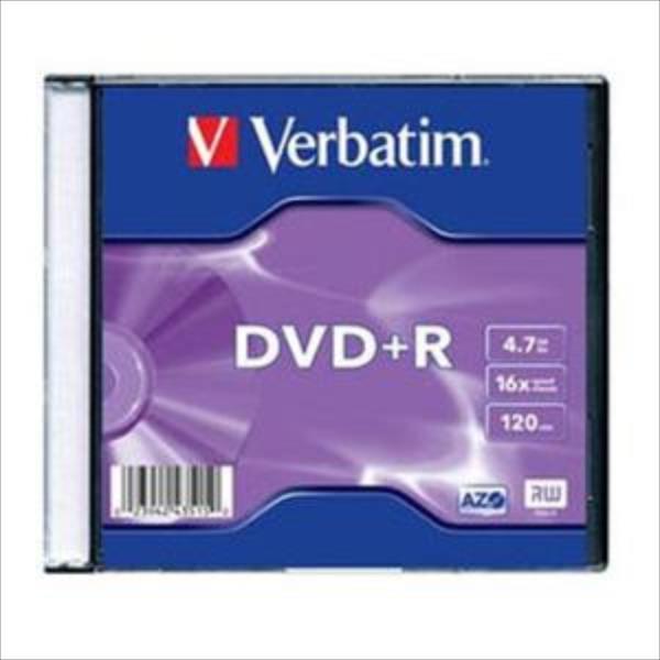 Verbatim DVD+R 4.7GB 16X AZO MATT SILVER slim box - 43515 matricas