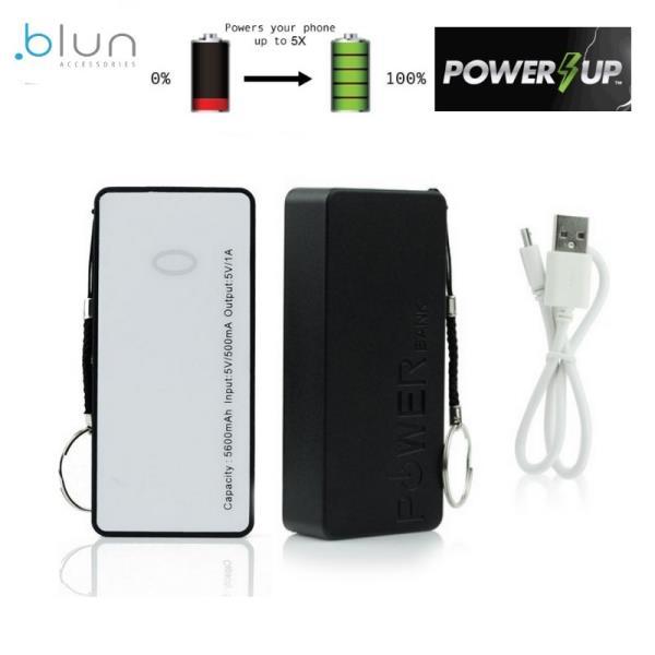 Blun ST-508/BK Power Bank 5600mAh universāla  rējas Uzlādes batereja USB 5V 1A Port + Siksniņa Melna aksesuārs mobilajiem telefoniem