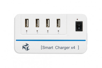 I-BOX IC-4 MICROPROCESSOR SMART CHARGER 4xUSB, 4A aksesuārs mobilajiem telefoniem