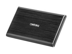 Natec RHINO PRO External USB 3.0 enclosure for 2.5' SATA HDD/SSD, black aluminum cietā diska korpuss