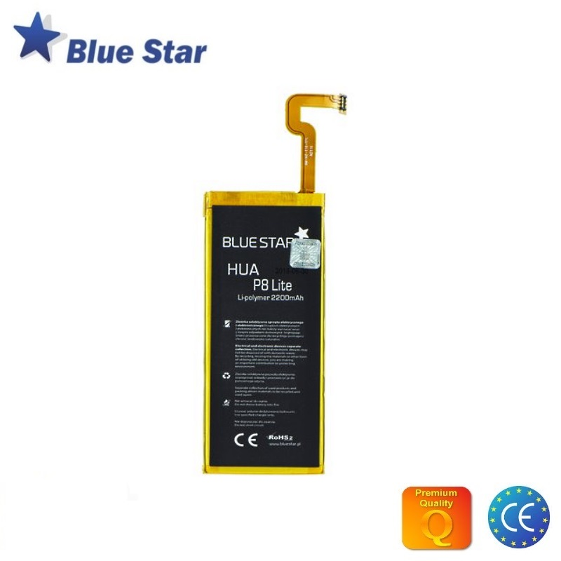 BlueStar Akumulators Huawei P8 Lite Li-Ion 2200mAh Analogs HB3742A0EZC aksesuārs mobilajiem telefoniem