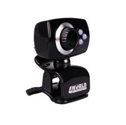 4World Webcam 2 Mpx USB 2.0 with LED backlight + mic, Universal web kamera