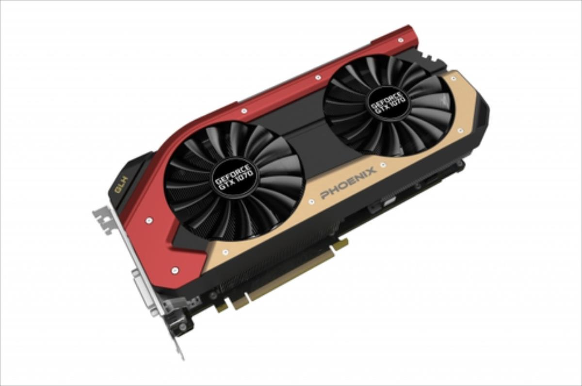 Gainward GeForce GTX 1070 Phoenix GS GLH, 8GB GDDR5 (256 Bit), HDMI, DVI, 3xDP video karte