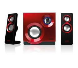 Sweex 2.1 Speaker Set 60W Purephonic Red datoru skaļruņi