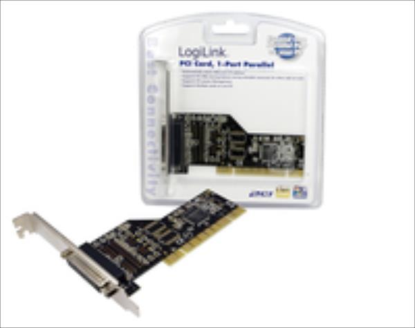 Logilink PCI interface card, 1x lpt (paralel) Logilink 1x parallel (LPT) PCI karte