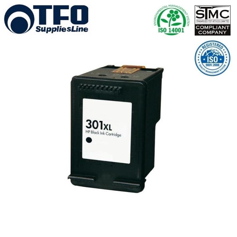 TFO HP 301XL CH563EE Melns Tintes kārtridžs 17ml priekš DeskJet 1050 2050 3050 uc HQ Premium Analogs aksesuārs mobilajiem telefoniem