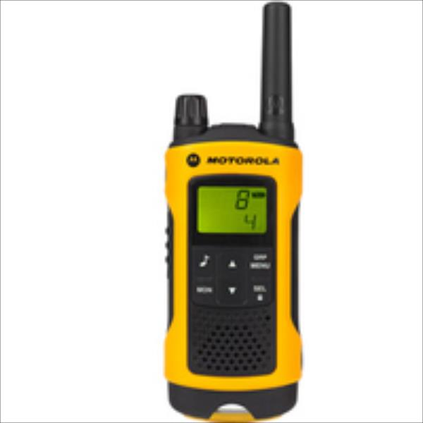 Motorola TLKR T80 EXTREME short-wave radio, 10 km, Black-Yellow 2pcs rācijas