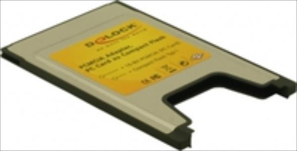 Delock PCMCIA Card Delock 1x Compact Flash Card Reader Typ I karšu lasītājs