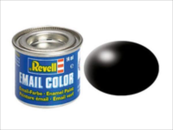 REVELL Email Color 302 Black Silk 14ml biroja tehnikas aksesuāri