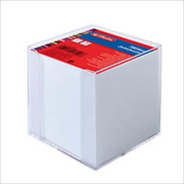 Herlitz Zettelkasten tr. 9x9cm 700Bl White with Deckblatt Skolas somas un penāļi