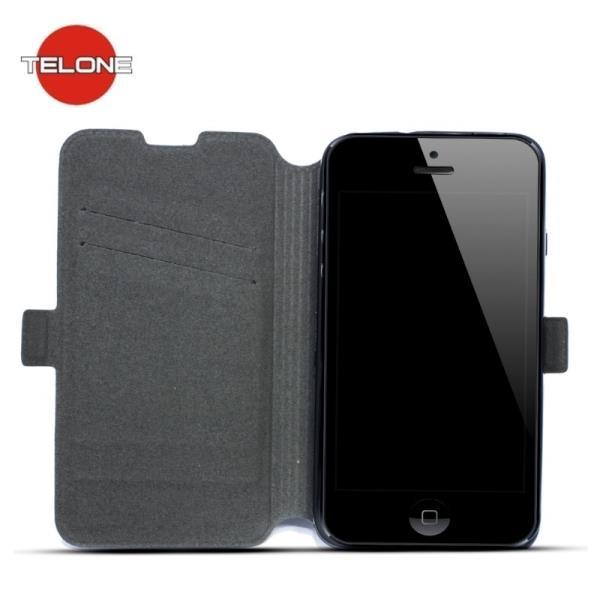 Telone Super plāns sāniski atverams maciņš ar stendu LG K3 K100 Melns aksesuārs mobilajiem telefoniem