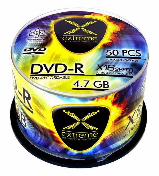 Extreme DVD-R [ cake box 50 | 4.7GB | 16x ] matricas
