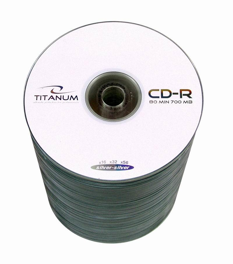 CD-R TITANUM [ spindle 100 | 700MB | 52x ] matricas
