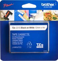 Brother Tapes TZE231S 12mm wh/black biroja tehnikas aksesuāri