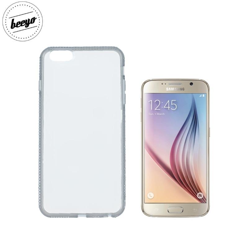 Beeyo Diamond frame super plāns silikona caurspīdīgs aizmugures maks-apvalks priekš Samsung G920F Galaxy S6 Pelēks