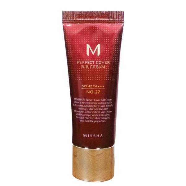 MISSHA M Perfect Cover BB Cream SPF42/PA+++ (No.27/Honey Beige) 20ml tonālais krēms