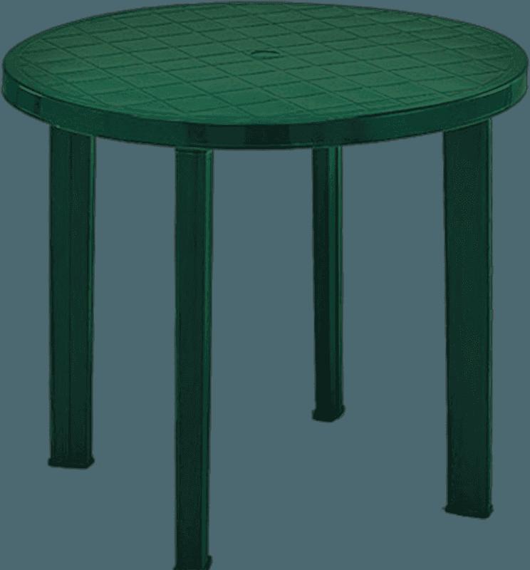 Galds apaļš Tondo 90cm zaļš plastmasas Dārza mēbeles