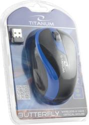 TITANUM Wireless Optical Mouse 3D BUTTERFLY TM113B| 2.4 GHz| 1000 DPI| 3D| Blue Datora pele