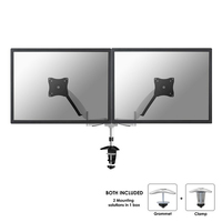 TV SET ACC DESK MOUNT SILVER/10-24