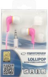 ESPERANZA Audio Stereo Earphones LOLLIPOP EH146P Pink austiņas