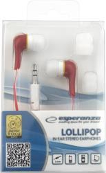 ESPERANZA Audio Stereo Earphones LOLLIPOP EH146R Red austiņas
