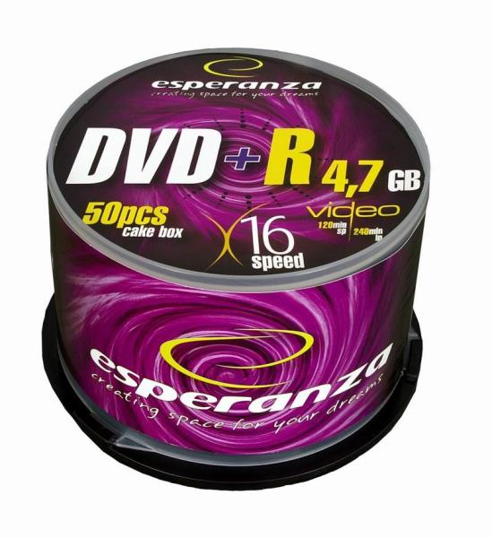 ESPERANZA DVD+R [ cake box 50 | 4.7GB | 16x ] matricas