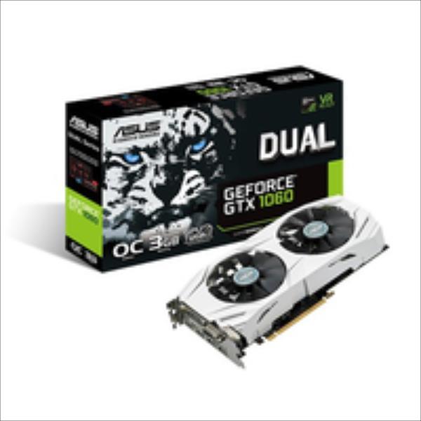ASUS GeForce GTX 1060 Dual O3G, 3072 MB GDDR5 video karte