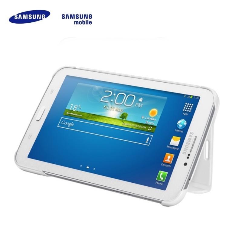 Samsung EF-BT110BWE Galaxy Tab 3 7.0 T1100 T1110 Lite Ultra plāns maks ar statīvu Balts (EU Blister) planšetdatora soma