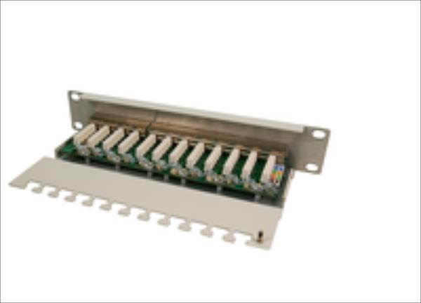 LOGILINK-  Patch Panel 10'' CAT6 12-Port shielded STP datortīklu aksesuārs