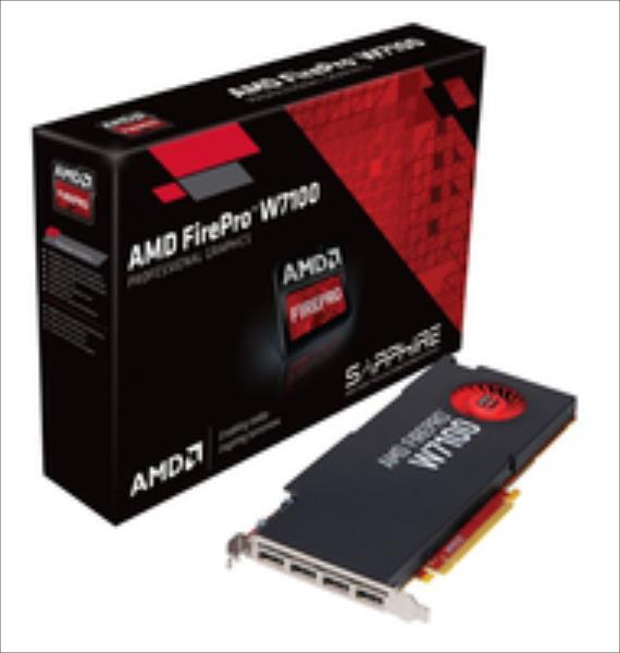 Sapphire AMD FirePro W7100, 8192 MB GDDR5, 4x DP video karte