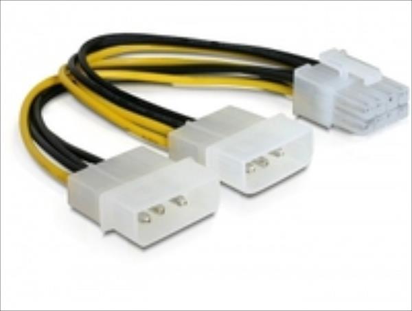 Delock 2xHDD/1xpci expr. 8pin (82397) kabelis datoram