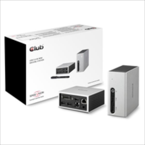 CLUB 3D DOCK USB3.0 DUAL GFX 4k MINI adapteris