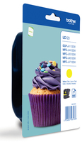 Ink Brother LC123YBP yellow | blister | 600 pgs | MFC-J4510DW