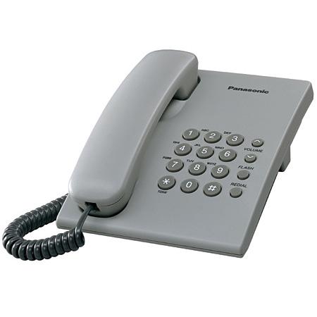 Panasonic KX-TS500FXH Corded phone, Grey telefons